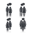 set people with social chat bubbles message vector image