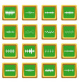 sound wave icons set green vector image vector image