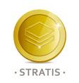 stratis icon as golden coin vector image vector image