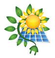 sun bio electricity vector image