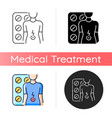 tablets for stomach ache icon vector image vector image