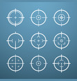 target aim icons military set crosshair target vector image