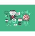 Target Audience Digital Marketing and Advertising vector image vector image