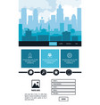 urban website template vector image