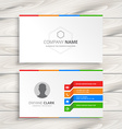 white business card template vector image vector image