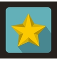 Yellow star icon in flat style vector image