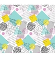 Seamless pattern in memphis style with geometric vector image