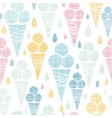 Ice cream cones textile colorful seamless pattern vector image