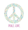 Peace sign on white for International Peace Day vector image