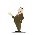 successful businessman in a suit vector image