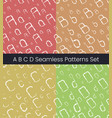 a b c d latin letter seamless patterns set vector image vector image