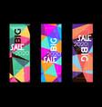 abstract trendy polygonal sale design vector image vector image