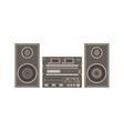 audio system music center on white flat icon vector image vector image