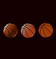 basketball design set symbol vector image