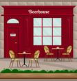 beerhouse facade in retro style vector image
