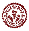 best quality rubber stamp with bunch grapes vector image vector image