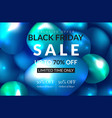 black friday sale poster commercial discount vector image vector image