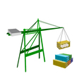 Cargo Container Being Hoisted By A Crane vector image vector image
