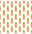 carrot seamless pattern vector image vector image