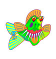 cartoon funny piranha pacu fish symbol vector image