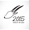 chinese new year of the goat goat icon vector image vector image