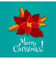 Christmas holiday poster with poinsettia flower vector image vector image