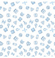 cloning outline simple seamless pattern vector image