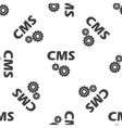 CMS settings pattern vector image vector image