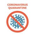 corona virus prevention symbol of vector image vector image