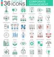 corporate management modern color flat line vector image