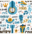 country music pattern vector image vector image
