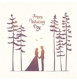 couple in forest vector image vector image