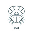 crab line icon linear concept outline vector image vector image