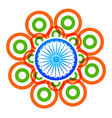 creative indian flag design with circles vector image vector image