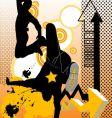 dancers design vector image vector image