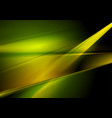 dark green and yellow abstract shiny background vector image