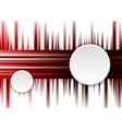 Dark red tech background with white circles vector image vector image