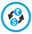 Dollar Rupee Exchange Rounded Icon vector image vector image