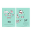 egypt travel tour booklet set in linear style vector image vector image