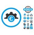 Euro Technology Flat Icon with Bonus vector image vector image