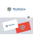 fireworks logotype with business card template vector image