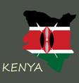 flag map of kenya vector image vector image