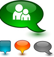 Forum speech comic icons vector image