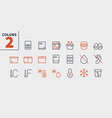 fridge ui pixel perfect well-crafted thin vector image vector image