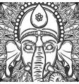 ganesha hindu god elephant vector image vector image