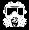 gas mask black and white 06 vector image