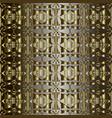 gold ornate 3d geometric 3d greek seamless vector image vector image