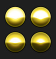 golden buttons template for website design vector image vector image