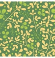 Green And Gold Leaves Seamless Pattern Background vector image vector image