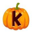 Halloween font alphabet vector image vector image